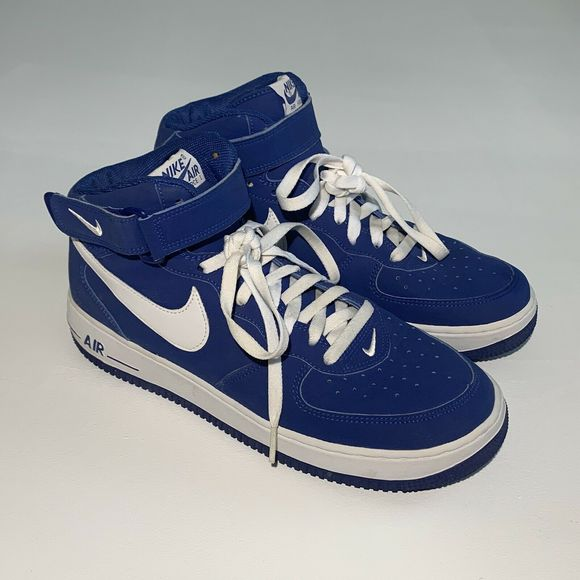 Nike Air Force 1 Mid Sport Royal White 2005 Shoes